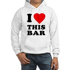 I Love This Bar Hooded Sweatshirt