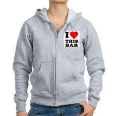 I Love This Bar Womens Zip Hoodie