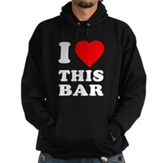I Love This Bar Dark Hoodie