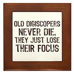 Old Digiscopers Never Die Framed Tile
