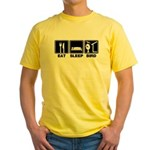 Eat Sleep Bird (v2) Yellow T-Shirt