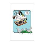 Squirrels, Get Off My Lawn! Mini Poster Print