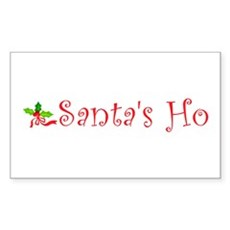 Santa's Ho Rectangle Sticker