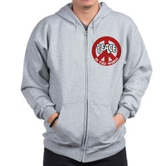 Peace is the word Zip Hoodie