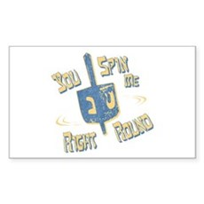 You Spin Me Right Round Rectangle Sticker