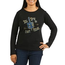 You Spin Me Right Round Womens Long Sleeve Dark T