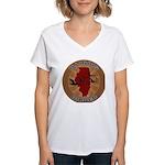 Illinois Birder Women's V-Neck T-Shirt