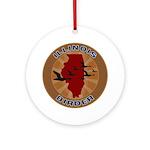 Illinois Birder Ornament (Round)