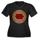 Iowa Birder Women's Plus Size V-Neck Dark T-Shirt
