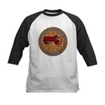 Massachusetts Birder Kids Baseball Jersey