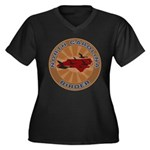 North Carolina Birder Women's Plus Size V-Neck Dar