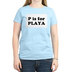 P is for PLAYA Womens Pink T-Shirt