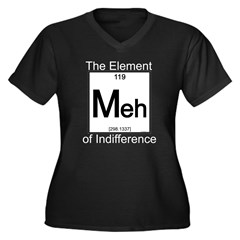 Element MEH Women's Plus Size V-Neck Dark T-Shirt