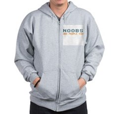 Noobs Are People Too Zip Hoodie