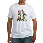 Fuertes' Waxwings Fitted T-Shirt