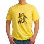 Fuertes' Waxwings Yellow T-Shirt