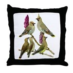 Fuertes' Waxwings Throw Pillow