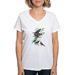 Grosbeaks & Buntings Women's V-Neck T-Shirt