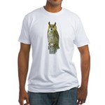 Fuertes' Great Horned Owl Fitted T-Shirt