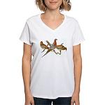 Fuertes' Passenger Pigeon Women's V-Neck T-Shirt