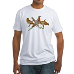 Fuertes' Passenger Pigeon Fitted T-Shirt