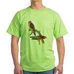 Red-shouldered Hawk Green T-Shirt