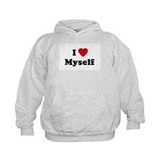I Love [Heart] Myself Kids Hoodie