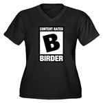 Rated B: Birder Women's Plus Size V-Neck Dark T-Sh