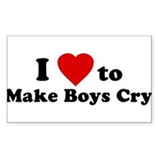 I Love [Heart] to Make Boys C Sticker (Rectangular