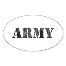 Vintage ARMY Oval Sticker