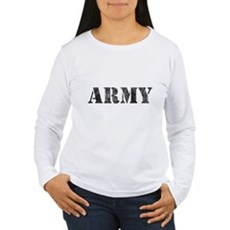 Vintage ARMY Womens Long Sleeve T-Shirt