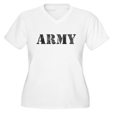 Vintage ARMY Plus Size V-Neck Shirt