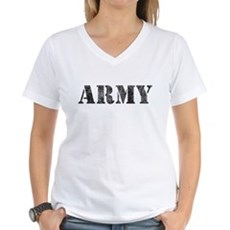 Vintage ARMY Womens V-Neck T-Shirt