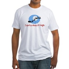 Santa does it high Fitted T-Shirt