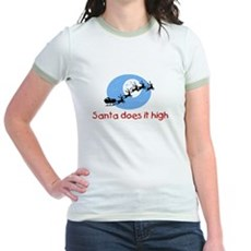 Santa does it high Jr Ringer T-Shirt