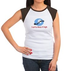 Santa does it high Womens Cap Sleeve T-Shirt