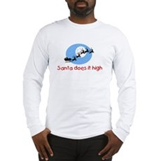 Santa does it high Long Sleeve T-Shirt