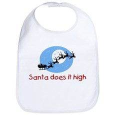 Santa does it high Bib