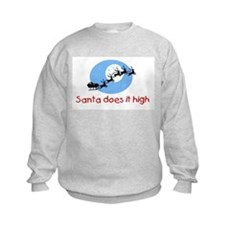 Santa does it high Kids Sweatshirt