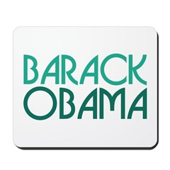 Art Deco Obama Green Mousepad