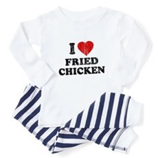 I Love [Heart] Fried Chicken Baby Pajamas