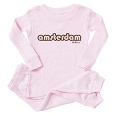 Amsterdam Holland (Vintage) Toddler Pink Pajamas