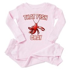 That Fish Cray Toddler Pink Pajamas