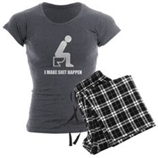 I Make Shit Happen Womens Charcoal Pajamas