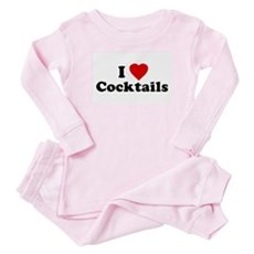 I Love [Heart] Cocktails Baby Pajamas
