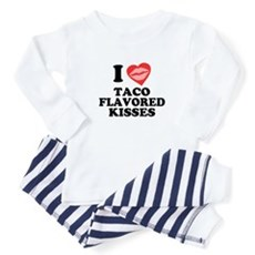 Taco Flavored Kisses Baby Pajamas