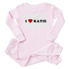 I Love [Heart] Katie Baby Pajamas