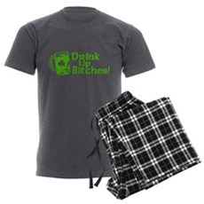 Drink Up Bitches! Mens Charcoal Pajamas