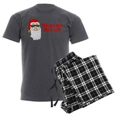 Where my Ho's at? Mens Charcoal Pajamas