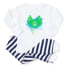 Peace and Love Baby Pajamas